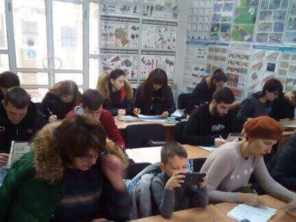 Кроме наших учеников трудятся и преподаватели